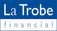 La Trobe logo blue keyline